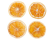 Four Dried Slices Of Orange