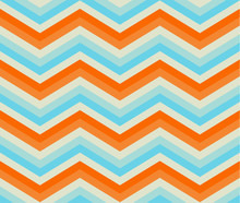 Zigzag Seamless Pattern. Color...