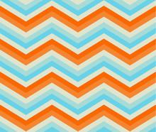 Zigzag Seamless Pattern. Colorful Chevron