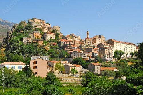 Fotografie, Obraz  Village de Corte, Corse