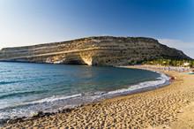 Matala Beach, Island Of Crete