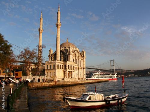 Recess Fitting Turkey Ortakoy at sunset, Istanbul, Turkey