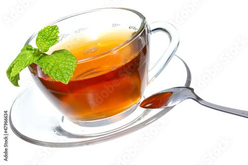 Staande foto Thee Tea and mint