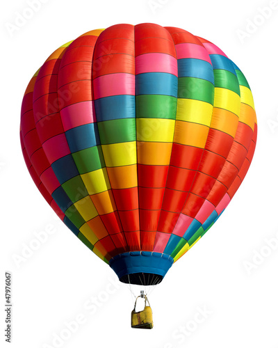 Spoed Foto op Canvas Ballon hot air balloon isolated