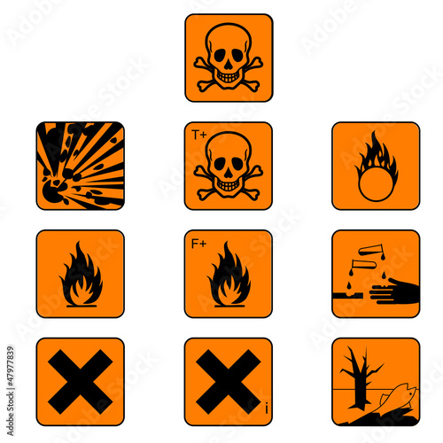 Set Of Chemicals Hazard Symbols Vector Buy This Stock Vector And