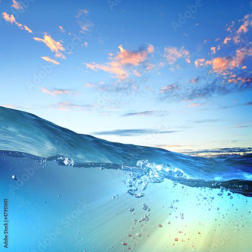 Foto-Vertikallamellen zum Austausch - sundown seascape (von Sergey Nivens)
