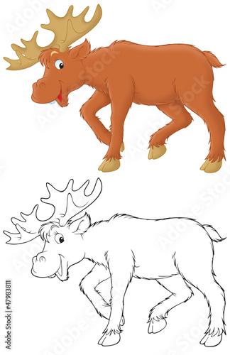 Türaufkleber Zum Malen Moose