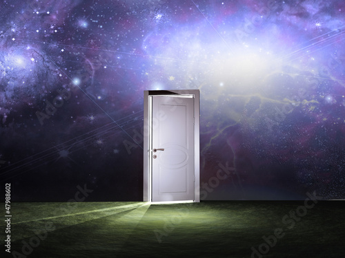 Foto-Vorhang - Doorway before cosmic sky (von rolffimages)