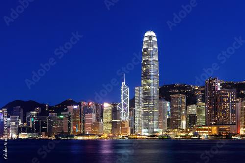 Fototapety, obrazy: Hong Kong skyline at night