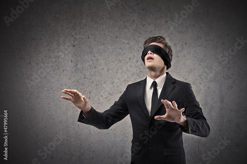 Tablou Canvas Blind Businessman