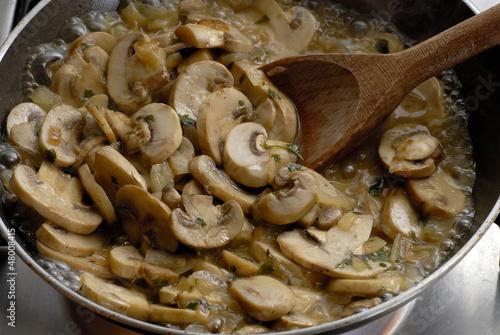 Preparando Y Cocinando Hongos,champiñones.