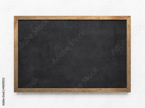 Blank old blackboard #48011032