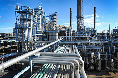 Fotografía Vista general de la instalación de gas y petróleo