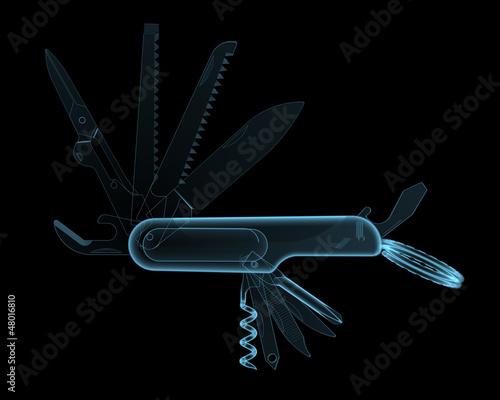 Fotografia, Obraz  Multitool pocket knife