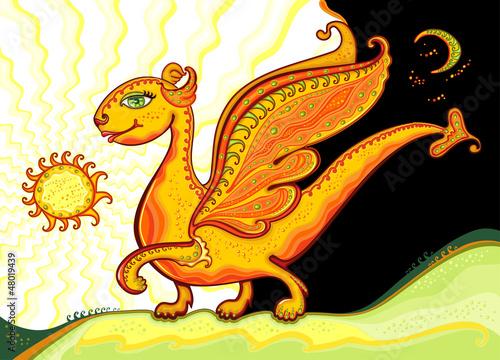 Aluminium Prints Submarine Happy Gold Dragon