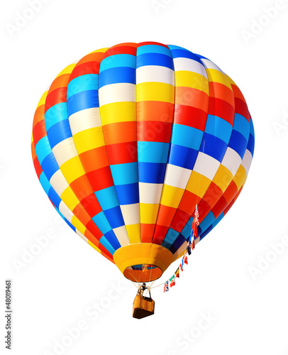 Poster Montgolfière / Dirigeable hot air balloon isolated
