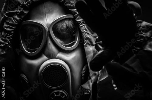 Photo Man in protective suit
