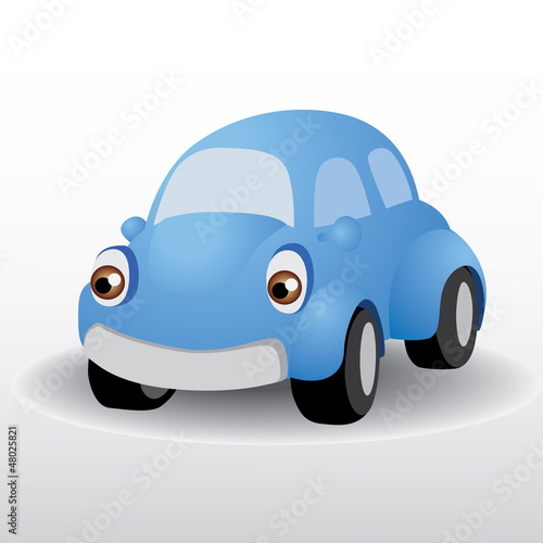 Foto op Canvas Cars beetle car vector