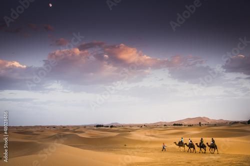 Spoed Foto op Canvas Marokko Carovana nel Deserto