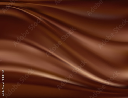 Fotografie, Obraz  Abstract chocolate background
