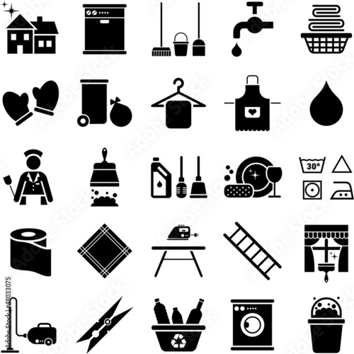 Fotografía  House Cleaning icons