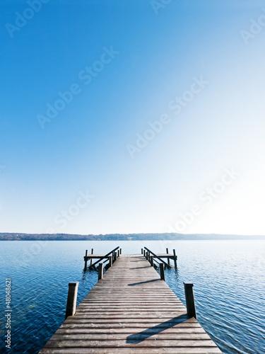 Tuinposter Pier wooden jetty