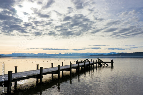 Fotobehang Pier wooden jetty