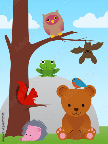 Poster Ours Cartoon animal collection