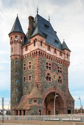 Valokuva  nibelungenturm worms rheinbrücke