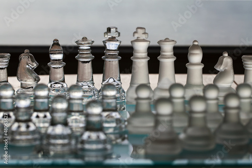 Chess Pieces / Set -  business concept: strategy, CEO, company. Canvas Print