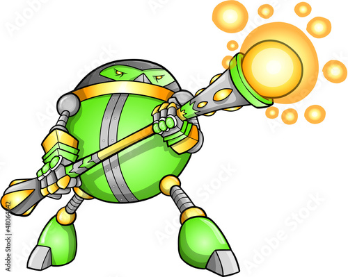 Warrior Soldier Robot Alien Cyborg Vector