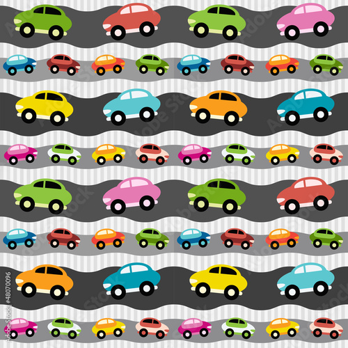Poster de jardin Route Background with cars