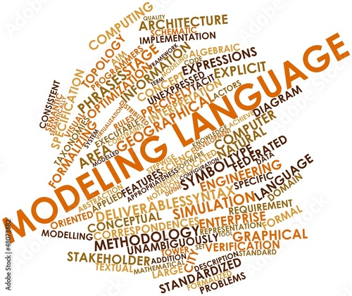 Photo  Word cloud for Modeling language