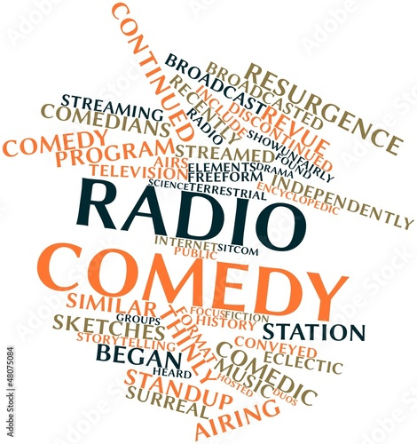 Fotografie, Tablou  Word cloud for Radio comedy