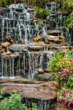 Cascade Falls Over Rocks - Stop Motion Waterfall