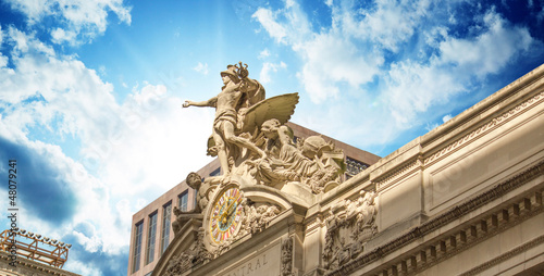 Grand Central Station Exterior view in New York City Canvas Print