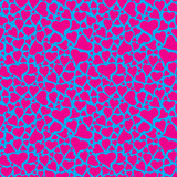 Contrast cyan and magenta hearts pattern