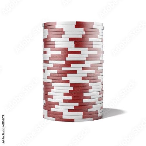 Fotografie, Obraz  Red casino chips