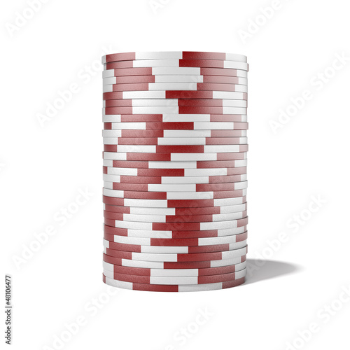 Photo Red casino chips