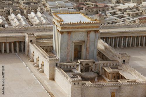 Spoed Foto op Canvas Bedehuis Second Temple. Model of the ancient Jerusalem.