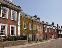 Typische Häuser In Exeter, Devon, Südengland