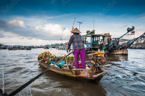 Photo  Cai Rang floating market, Can Tho, Vietnam