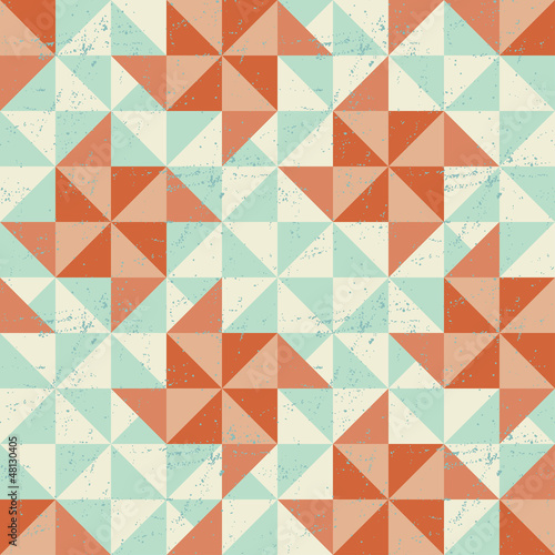 Seamless geometric pattern with origami elements. - 48130405