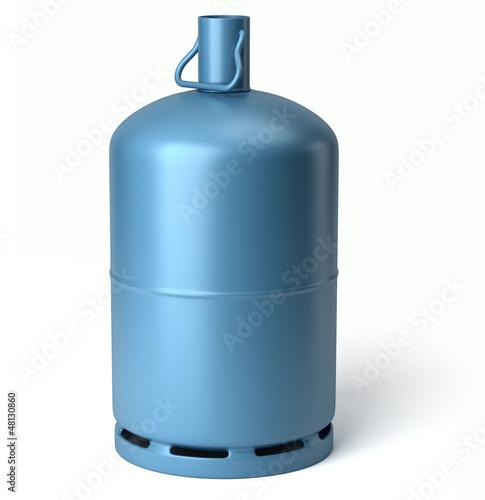 Fotografiet  Bouteille de gaz sur fond blanc 1