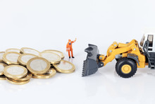 Euro Money Coins With Loader