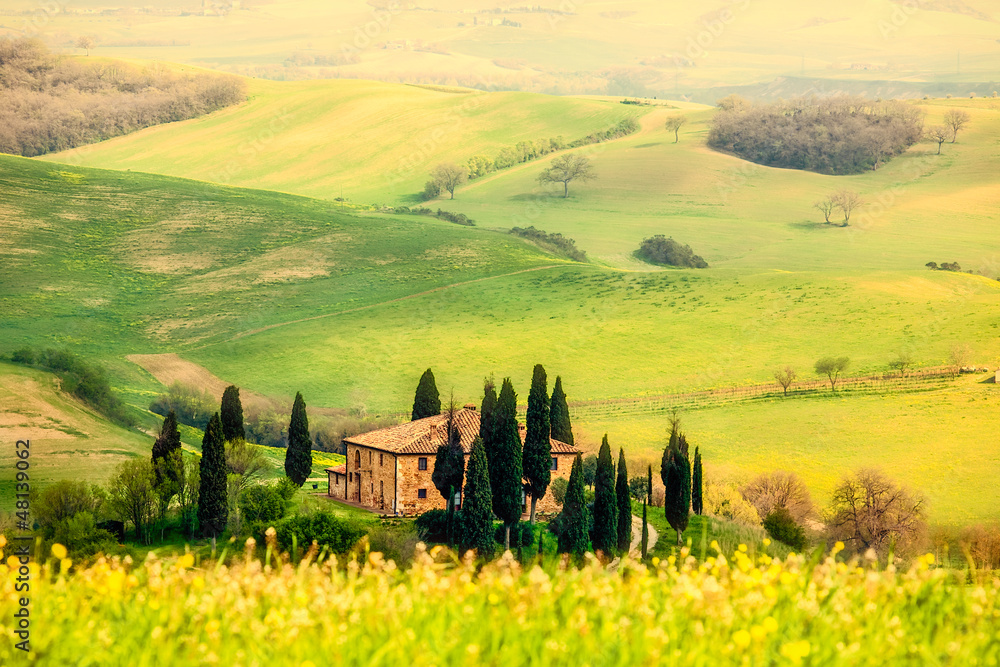 Fototapeta Spring in the Tuscany