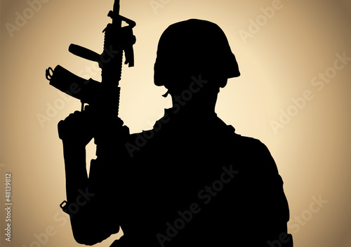 Poster Militaire fighting for freedom
