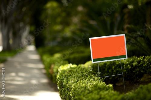 Fotografie, Obraz  Yard Sign