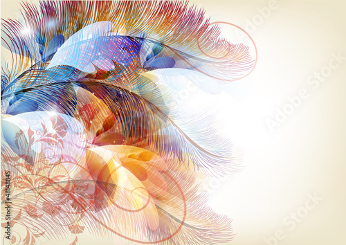 kolorowe-abstrakcyjne-tlo-z-galazkami-i-piorami