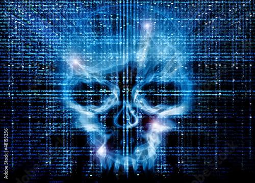 Fotografía  hacker attack background